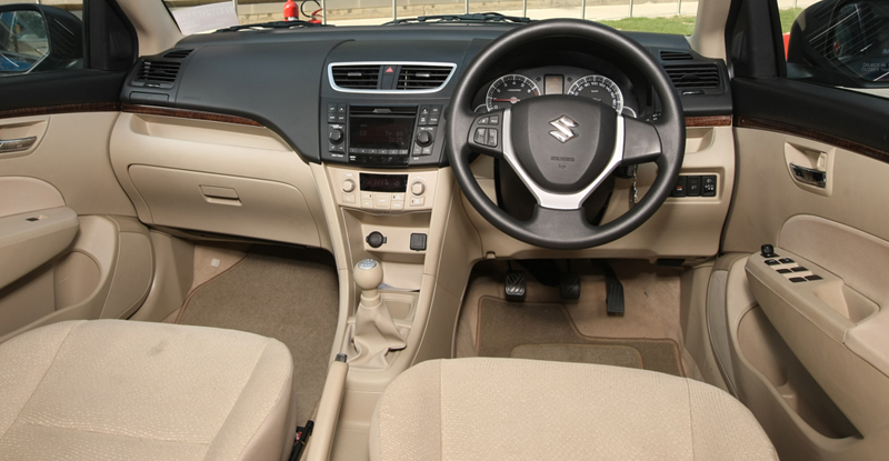 Hire a MARUTI SWIFT DZIRE 4 seater caer